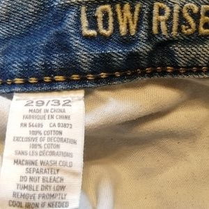 American Eagle Outfitters Jeans - Mens Low Rise Boot Distressed Jeans American Eagle